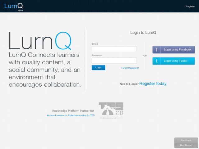 screenshot of LurnQ