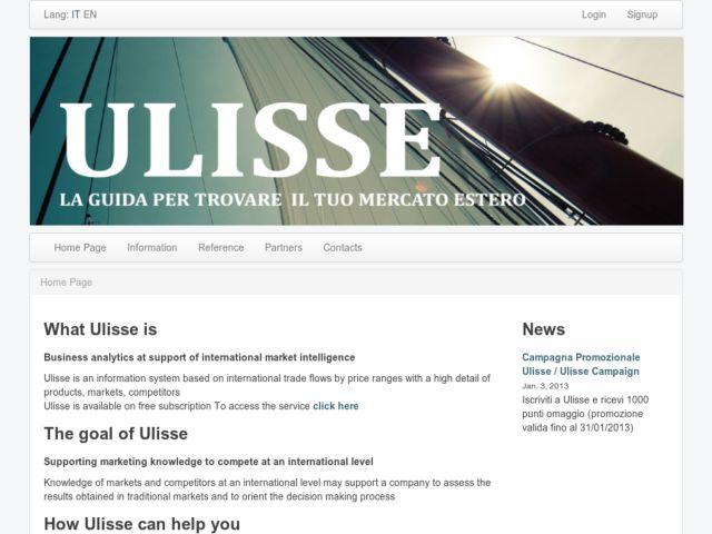 screenshot of ulisse