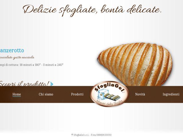 screenshot of Sfogliagel