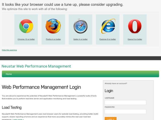 Neustar Web Performance Management: Monitoring