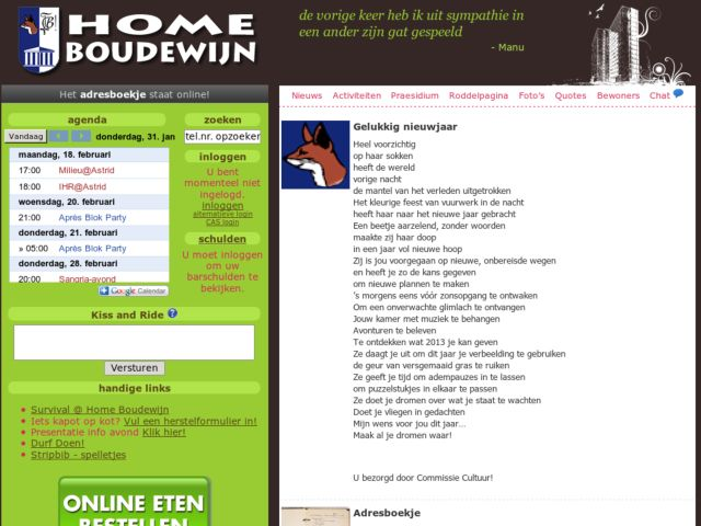 Home Boudewijn students website
