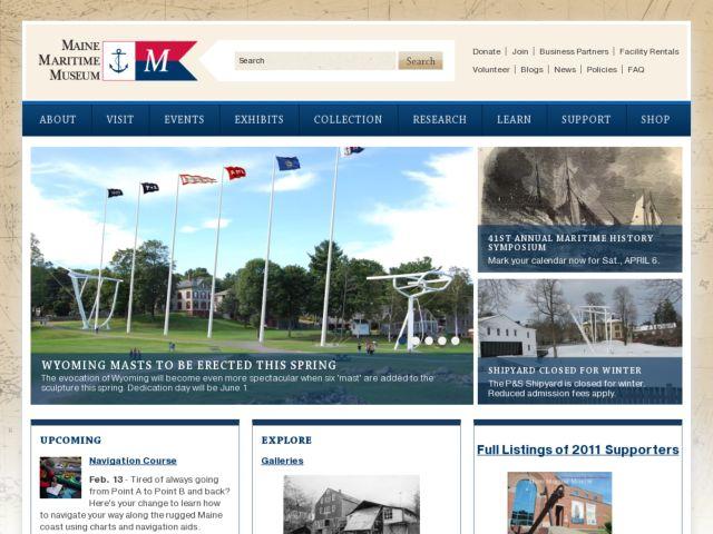 screenshot of Maine Maritime Museum