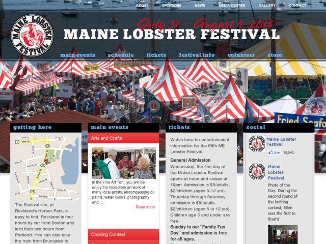 screenshot of Maine Lobster Festival
