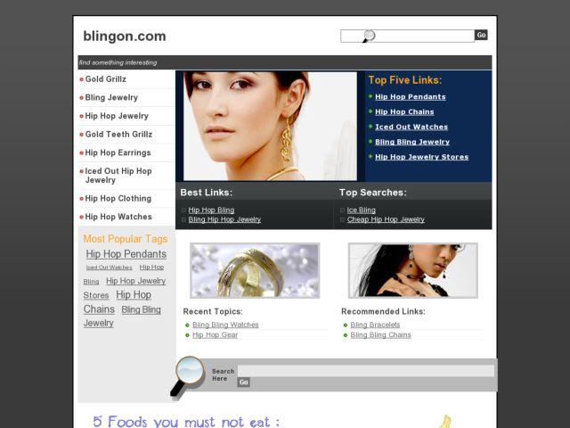 screenshot of Bling On!