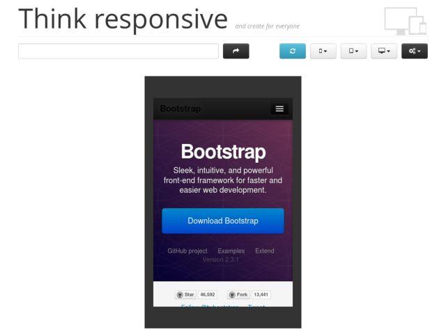 screenshot of Think responsive