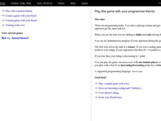 screenshot of Hackerlines