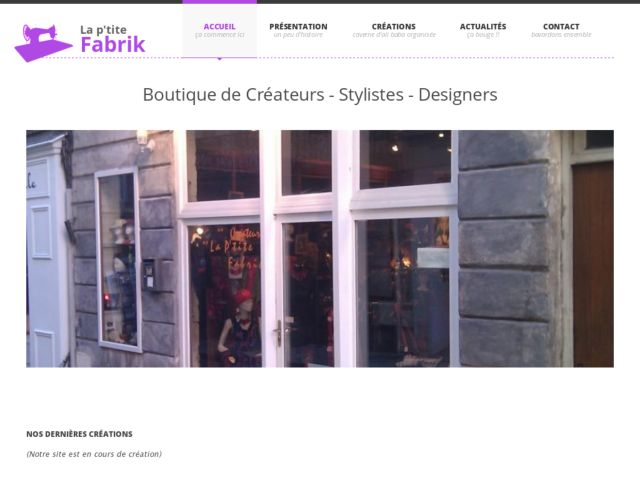 Boutique Vêtements de Créateurs La P'tite Fabrik