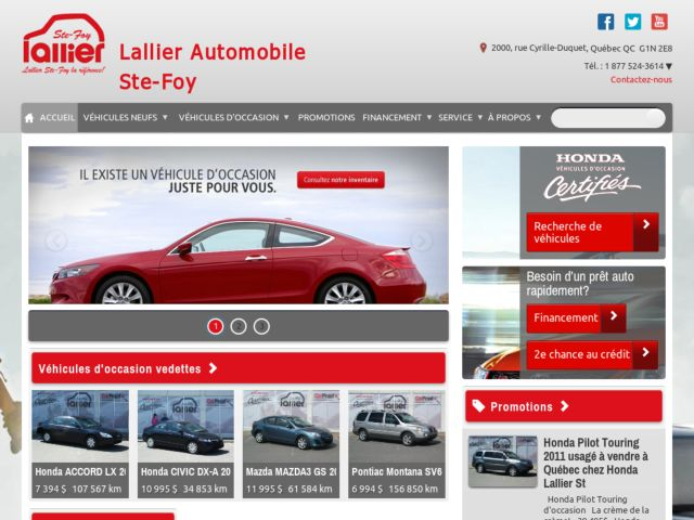 screenshot of Lallier Automobile Ste-Foy
