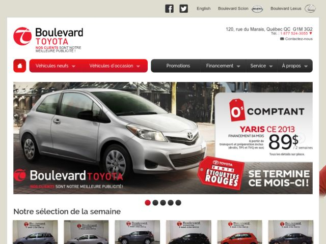 screenshot of Boulevard Toyota