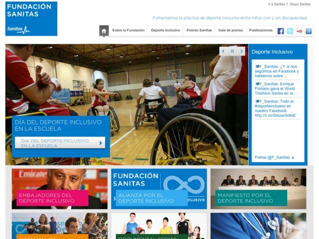 screenshot of Fundación Sanitas