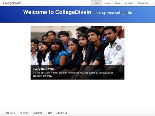screenshot of CollegeDiveIn