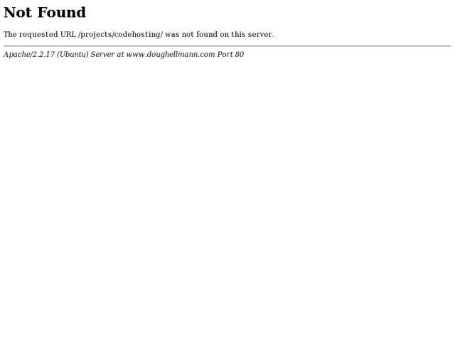 screenshot of codehosting