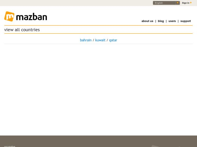 Mazban - Middle east classifieds
