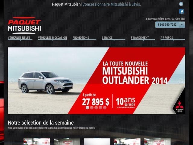 screenshot of Paquet Mitsubishi