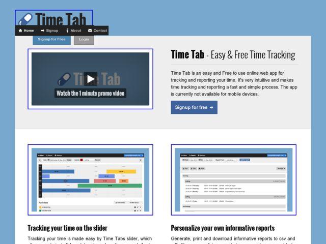 screenshot of Time Tab
