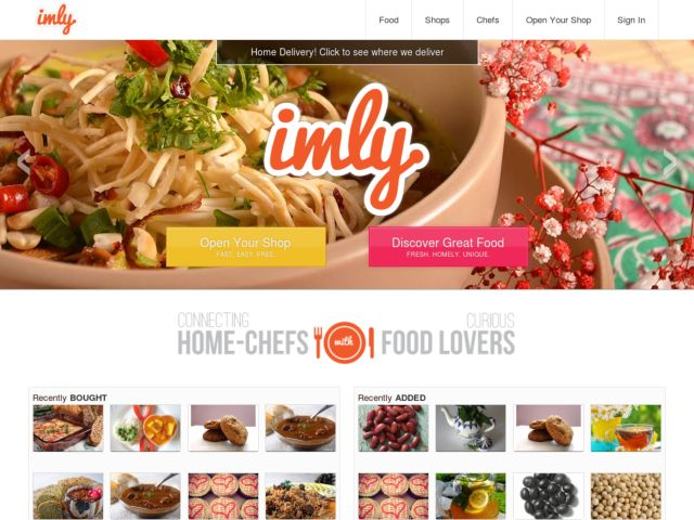 Imly: the online marketplace to buy and sell homemade food