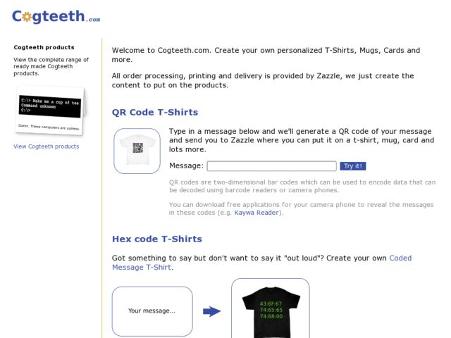 screenshot of Cogteeth.com