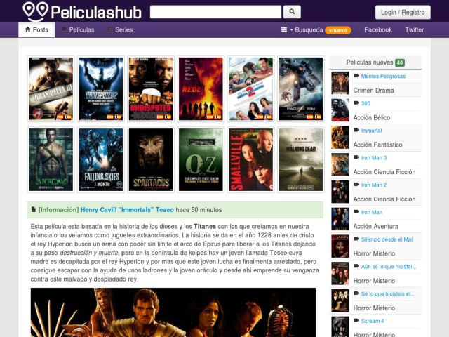 screenshot of Trailers Movies and Series