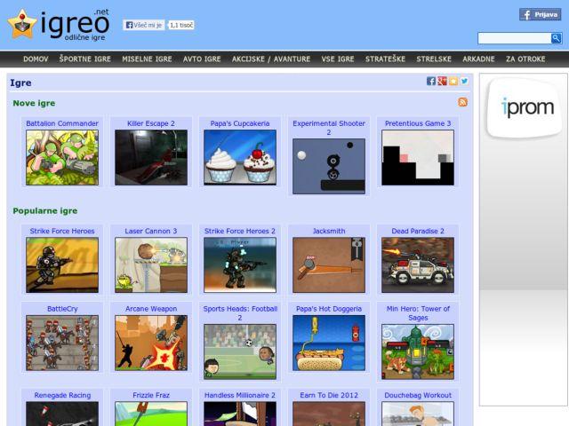 screenshot of Games