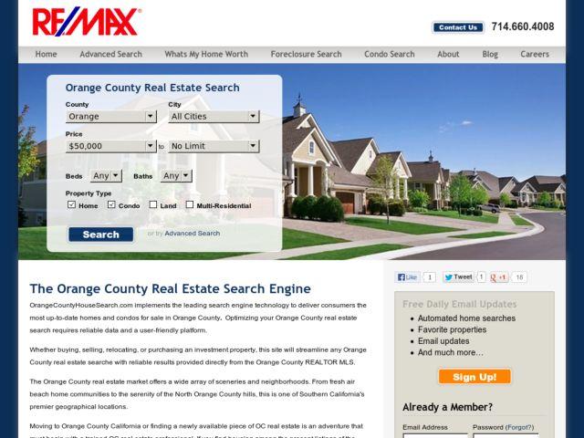 Orange County Real Estate Search