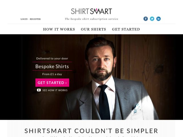 screenshot of Shirtsmart