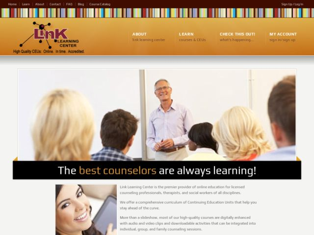screenshot of Link Learning Center