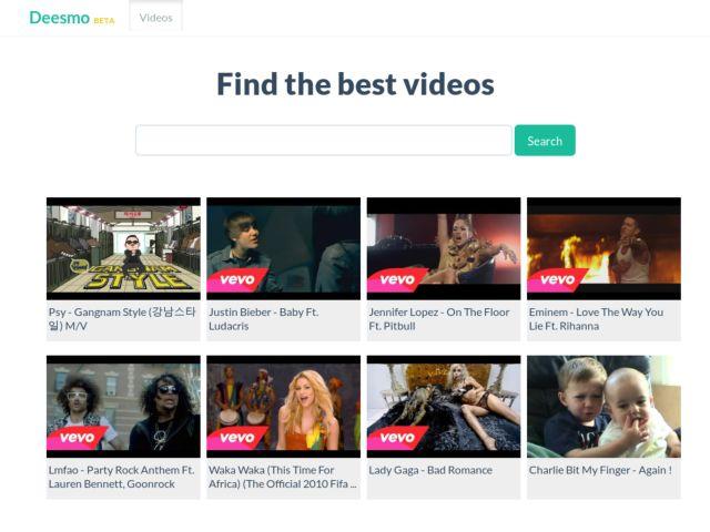 screenshot of Deesmo - Video Search Engine