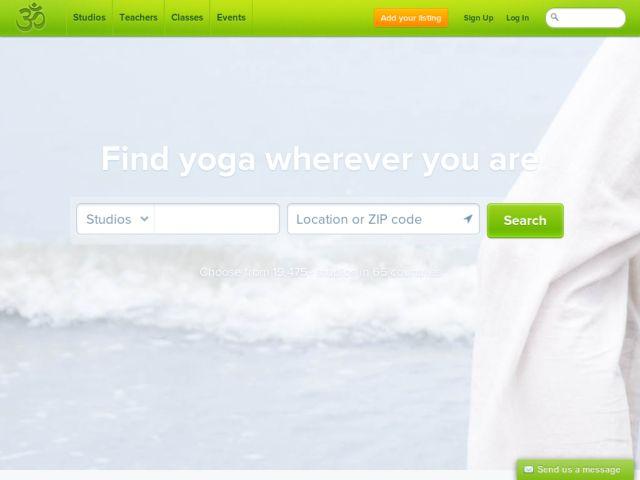 OM · Find yoga wherever you are. Yoga Studios · Yoga Teachers · Yoga Events