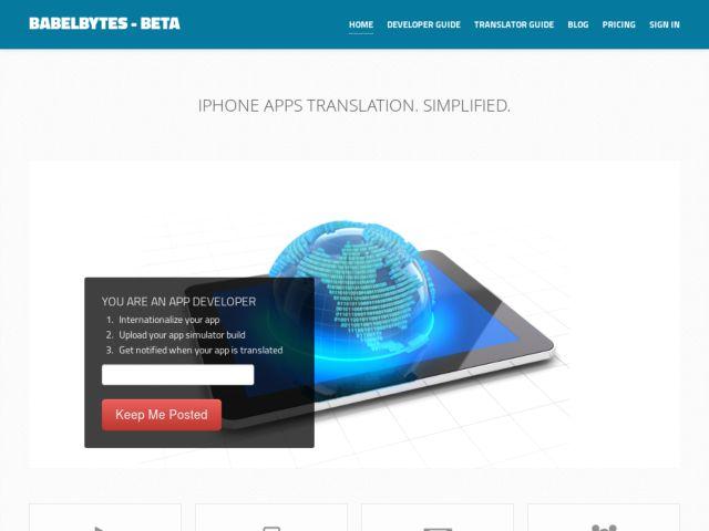 screenshot of BabelBytes