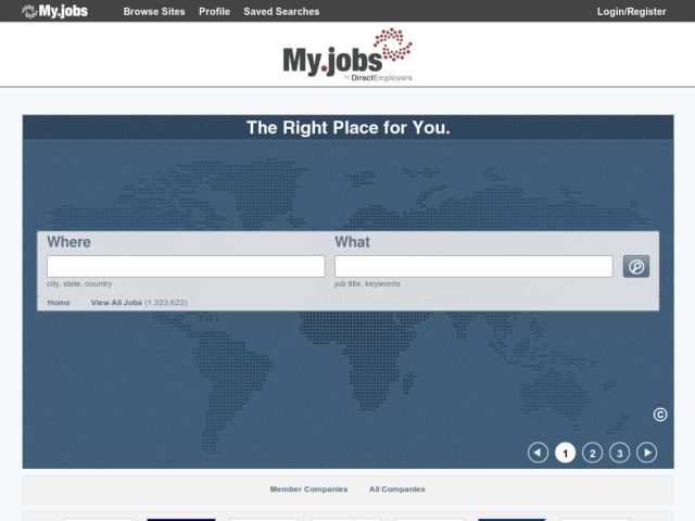 screenshot of My.jobs