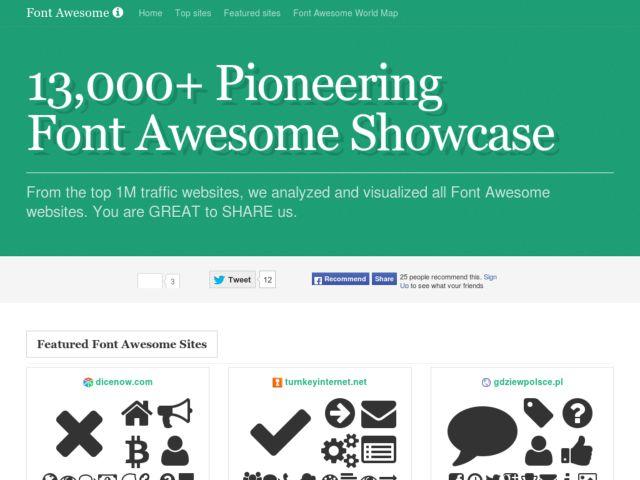 World Largest Font Awesome Icons Showcase