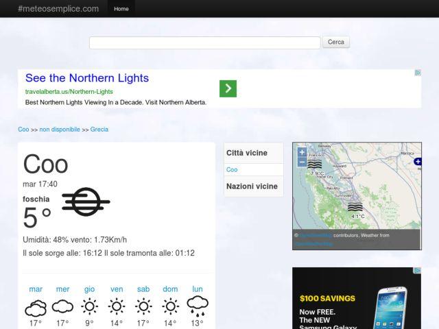 screenshot of MeteoSemplice