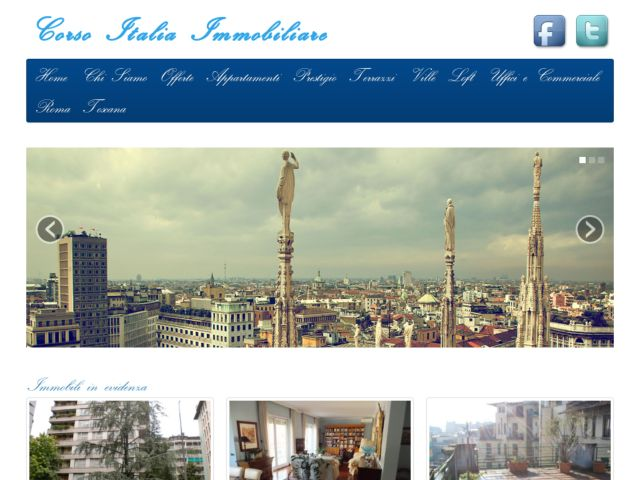 screenshot of Corso Italia Immobiliare