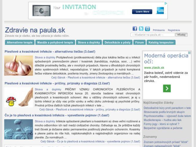 screenshot of Health paula.sk
