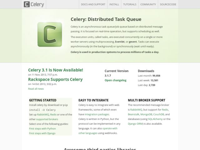 Celery project website