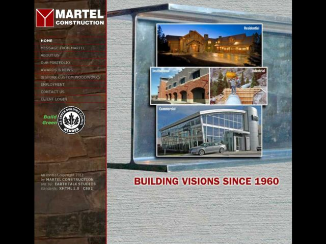 screenshot of Martel Construction