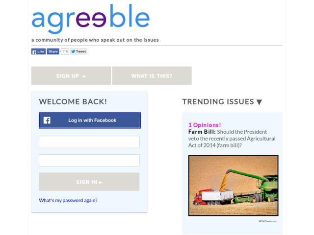 screenshot of agreeble