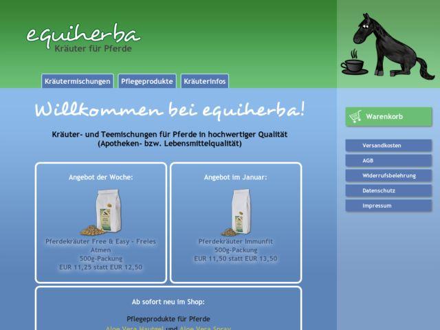 screenshot of Herbs for Horses