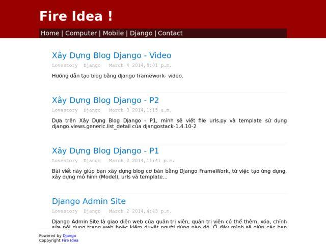 Fire Idea