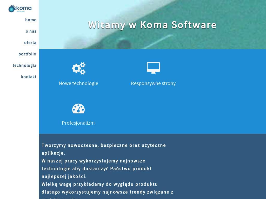 screenshot of komasoftware.com