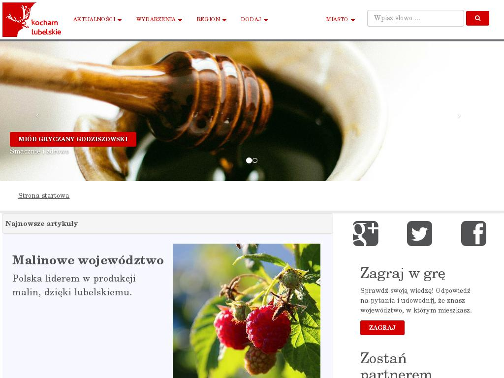screenshot of kochamlubelskie.pl