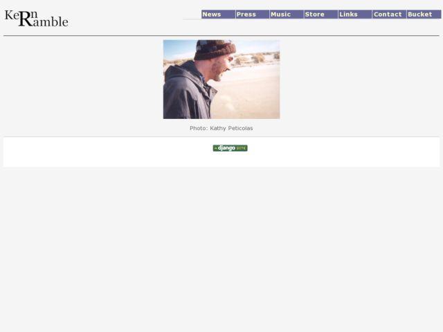 screenshot of Kern Ramble