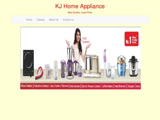 screenshot of KJ Home Appliance