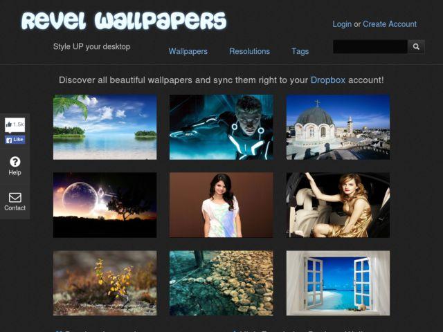 screenshot of RevelWallpapers
