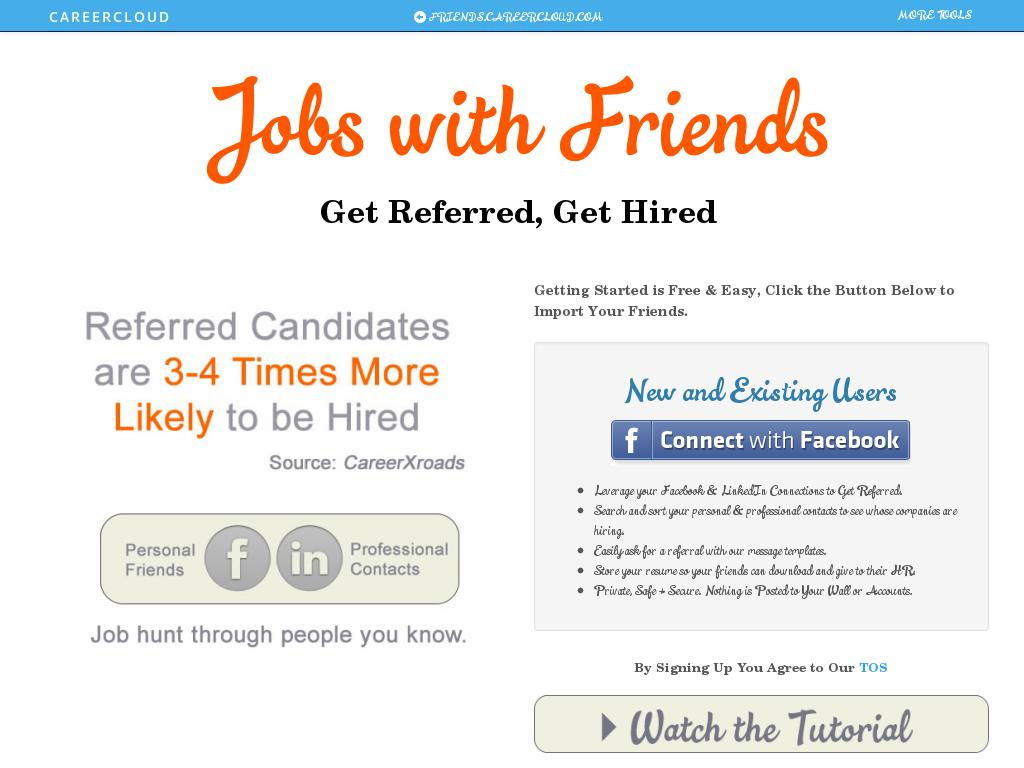 Jobs with Friends