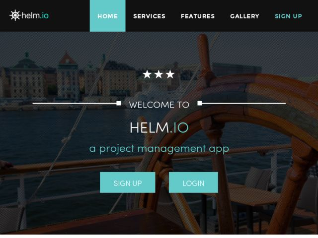 screenshot of Helm.io