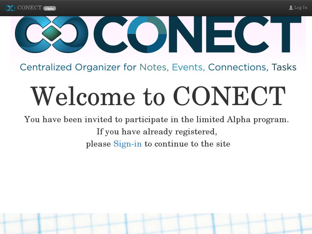screenshot of Conect