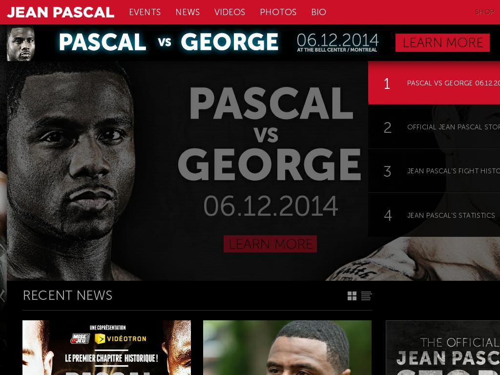 screenshot of Jean Pascal Boxing