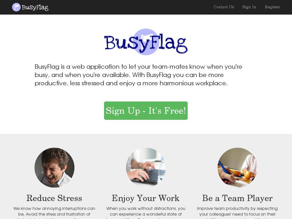 screenshot of BusyFlag
