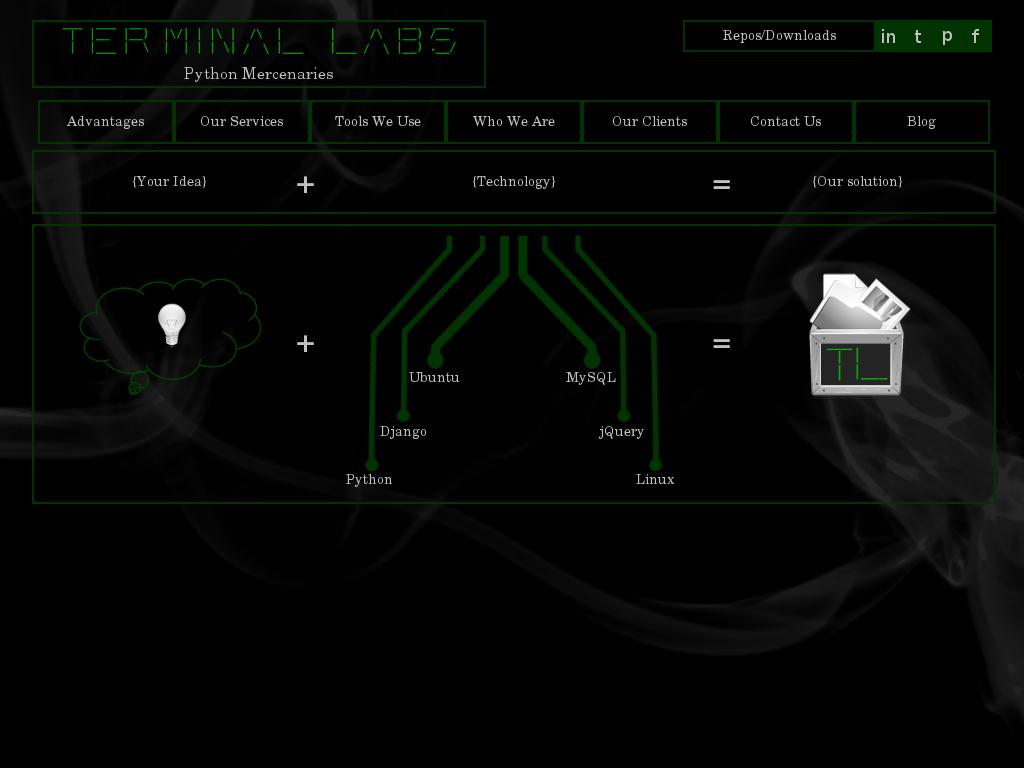 screenshot of Terminal Labs